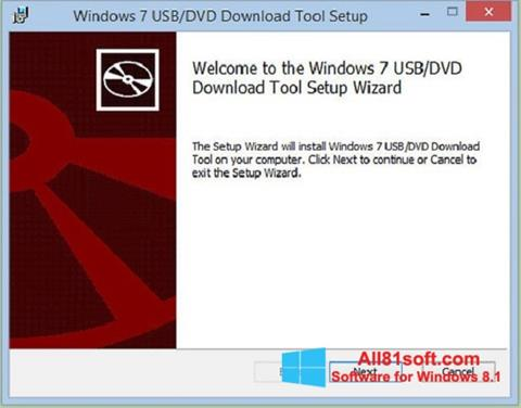 Screenshot Windows 7 USB DVD Download Tool Windows 8.1