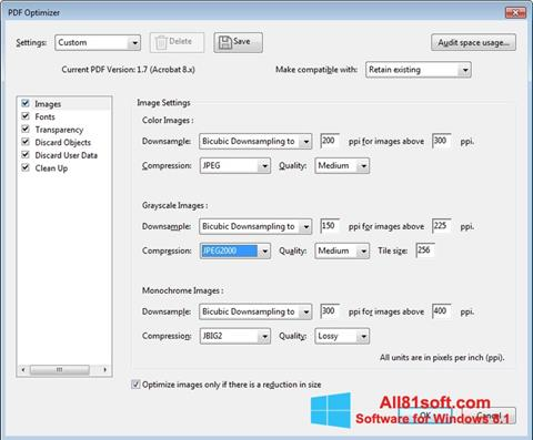 Screenshot Adobe Acrobat Pro DC Windows 8.1
