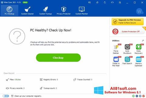 Screenshot Wise Care 365 Windows 8.1