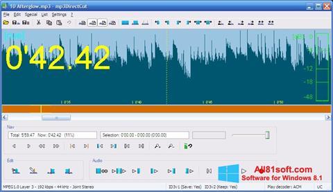 Screenshot mp3DirectCut Windows 8.1