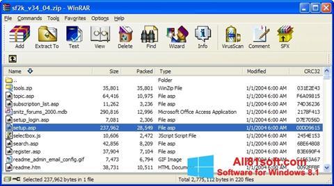 Screenshot WinRAR Windows 8.1